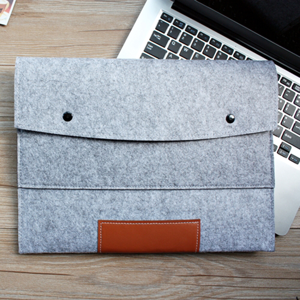 Fashion 11,13,15 inch Wool Felt Hand Hold Inner Notebook Laptop Sleeve Bag Case Carrying Handle Bag For Macbook Air/Pro/Retina