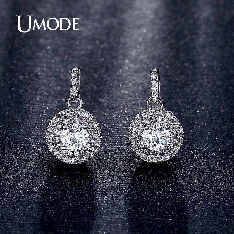 font b UMODE b font New Arrival Fashion Jewelry Rhodium plated font b Earring b