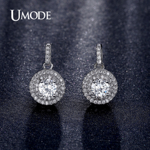 UMODE New Arrival Fashion Jewelry Rhodium plated Earring Drop Earrings For Women Boucle D'oreille Drop Brincos Party AUE0198B