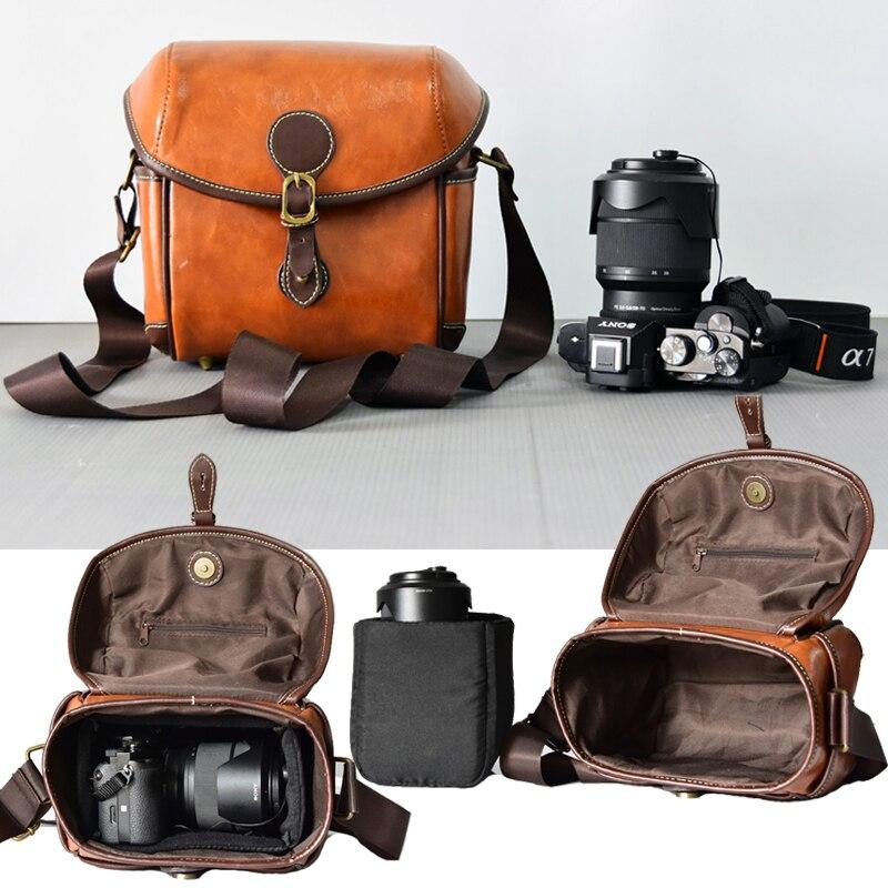 Retro Camera Bag Case For Sony A7 Mark II A77 7M2K 7RM2 A7R A7RII A7II A7III A6000 A6500 HX400 H400 H300 HX350 RX10 III RX10M3