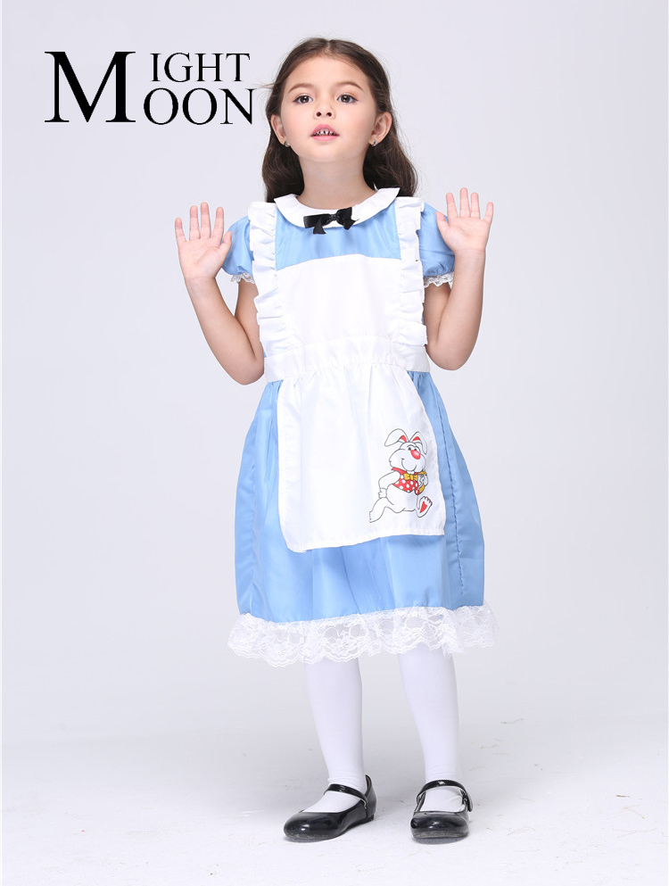 MOONIGHT 2018 Girl Maid Cosplay Costumes Halloween Stage Performance Girl Costumes Vestido Tutu Dress Kids Carnival Party Outfit