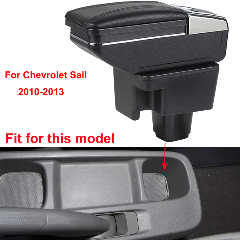 Car Armrest Box Center Storage Box With Cup Winner Ashtray Interior Car Styling Accessories Parts For Chevrolet Sail 2010 2013 in Armrests from Automobiles Motorcycles