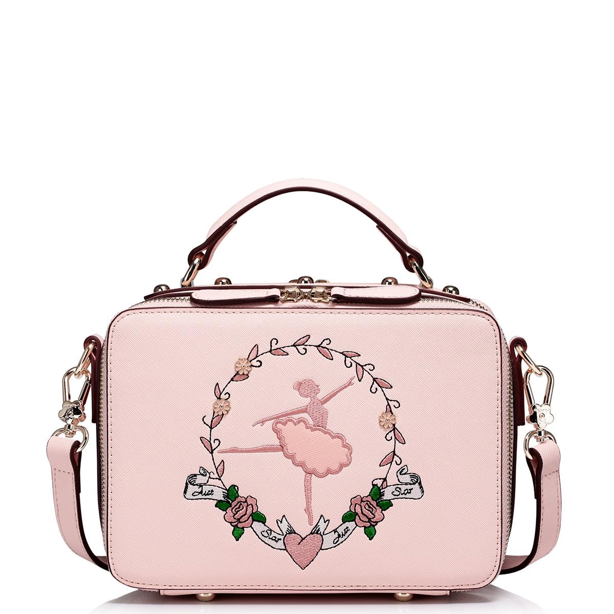 2017 verão flor ballet menina Handbag Estilo : Top Handle Bag Shoulder Bag Messenger Bag Clutch Bag Crossbody Bag