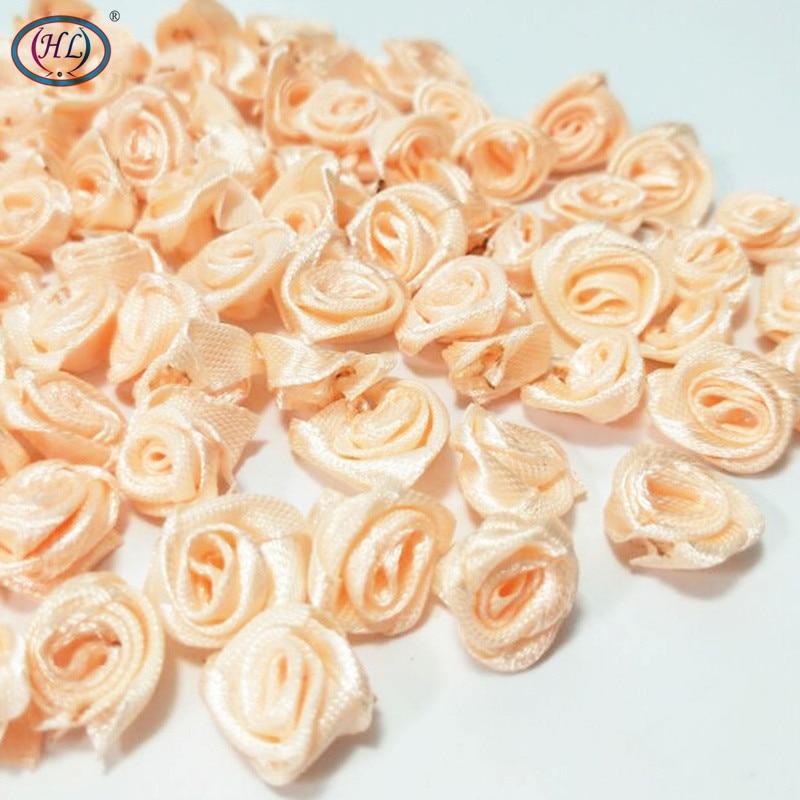 HL 100 piezas Cinta de durazno Rosa Flores Decoración de la boda - Para fiestas y celebraciones - foto 3