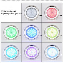24W 36W Led Swimming Pool Light IP68 Waterproof AC12V Outdoor RGB UnderWater Light Pond Led Piscina Luz Spotlight Fountain light цена в Москве и Питере