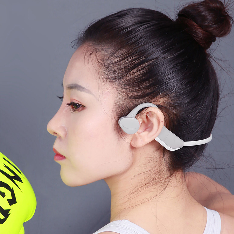 Fornito J20 Conduzione Ossea Tracolla Auricolari Bluetooth 5.0 Stereo Hands-free Sports Cuffie Con Con Il Mic Per Il Fitness Corsa E Jogging