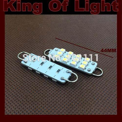 10x High quality car led stying lighting C5W 12SMD Festoon 12 LED SMD 3528 44mm Free shipping