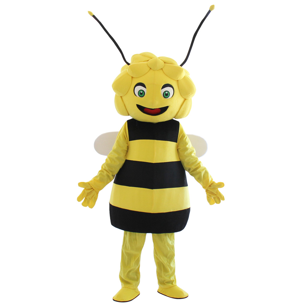 Professional New style Maya the Bee mascot costume Bee Mascot Costume Fancy Dress Adult Size Free Shipping