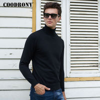 COODRONY Christmas Sweater Men Winter Thick Warm Turtleneck Pullover Men Solid Color Wool Pull Homme Soft