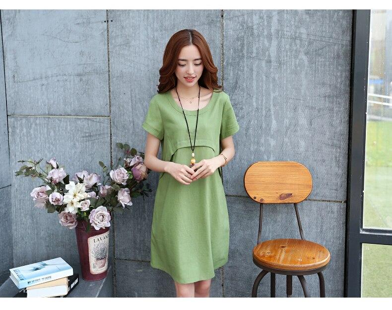 Платье прямого силута для беременных и кормящих мам