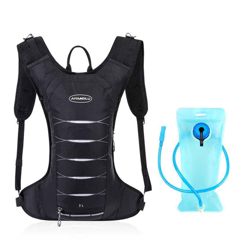 Lightweight 3L Bicycle Hydration Backpack,Waterproof Sport Backpack Trail Running Marathon Bike Cycling Backpack,No Water Bag