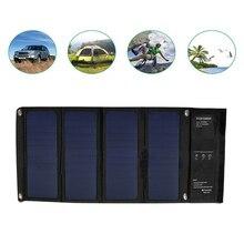 28 W 5 V taşınabilir güneş paneli şarj katlanabilir su geçirmez Sunpower güneş hücreleri çift USB cep telefonları için açık kamp