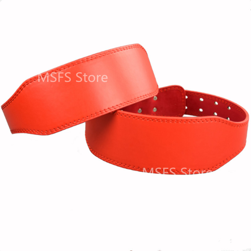 High Quality PU Leather Pro Weight Lifting Belt Gym Crossfit Fitness Lower Back Support Weightlifting Belts For Men Women