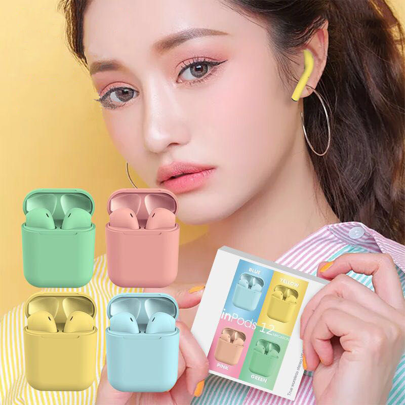 I12 Tws Original Wireless Earphones Bluetooth Headphones Headset Gamer Scrub Earbuds For Redmi IPhone Samsung Huawei Pk I10 I7s