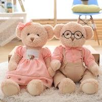 Super Kawaii 1pcs Big Size 65cm Couple Teddy Bear Stuffed & Plush Toy Doll Cute Soft Wedding Bear Dolls Girls Birthday Gifts