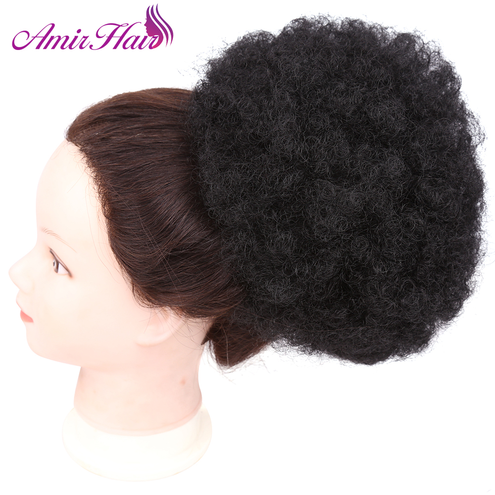 Amir Hair Donut Chignon Curly Synthetic Hair Bun Extensions Updo Clip In Hair Hairpieces 8inch 90g 网 红 小 姐姐