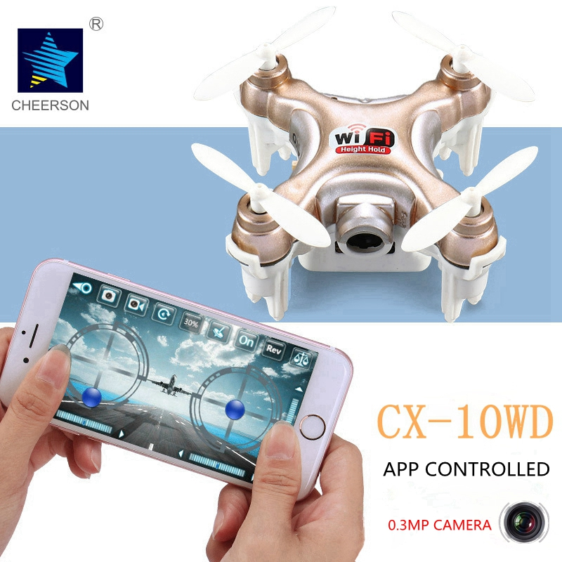 Upgrade Quadrotor with Camera 0 3MP HD Cheerson CX 10WD WiFi Connection Control Mini font b