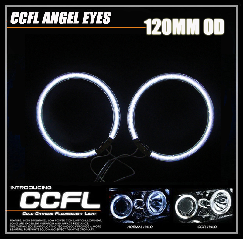 CCFL Angel Eyes 2Pieces 1Pair 120MM Auto Halo Rings Angel Eyes Car Motorcycle Universal Driving Fog