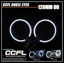 CCFL Глаза Ангела 2 Шт (1 Пара) 120 ММ Авто Halo Кольца Angel Eyes Автомобиль Мотоцикл Универсальный Вождения противотуманные фары Лампы 12 В