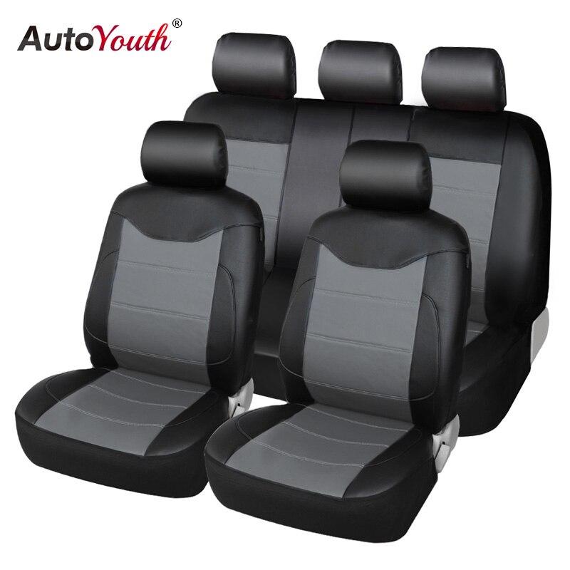 Autoyouth Кожа PU автомобилей Чехлы для сидений мотоциклов Универсальный полностью синтетическое комплект полный автомобильный Чехлы для сиден...