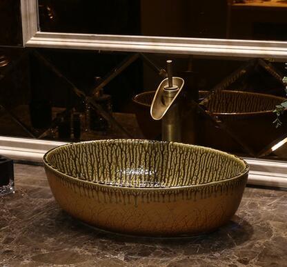European style retro art ceramic bench wash basin antique toilet ...