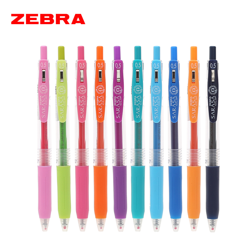 5595cfbb6936 ZEBRA JJ15 SARASA Clip Gel Pens 0.5mm Gel Ink Rollerball Pens 20 Colors  Refill Core Office and School Supplies