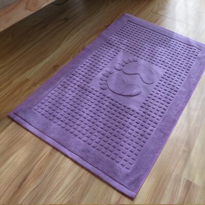 €12.55 31% de réduction|Nouveau 100% coton empreinte hôtel Flool tapis  salle de bain serviettes absorbant antidérapant tapis étape pied tapis de  ...