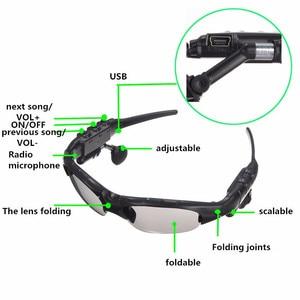 Image 4 - Óculos de sol smart com bluetooth, óculos de proteção solar wireless e com fones de ouvido e microfone para smartphones, permite praticar esportes