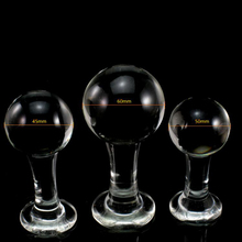 3PCS/lot Big Head Pyrex Glass Anal Plug Butt Beads Crystal Dildo Sex Toys for Women Adult Female Male Masturbation Sex Products