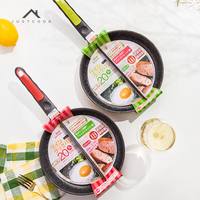 Justcook 20 CM Breakfast Frying Pan Non Stick 2 in 1 Frying Pan Non Smoke Divided Grill For Fried Eggs and Bacon