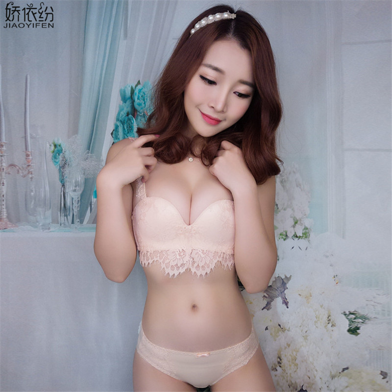 JYF High quality sexy women underwear seamless embroidery lace bra set  tassel sexy bra wire free lingerie push up bra brief sets-in Bra   Brief  Sets from ... 4e2a571af