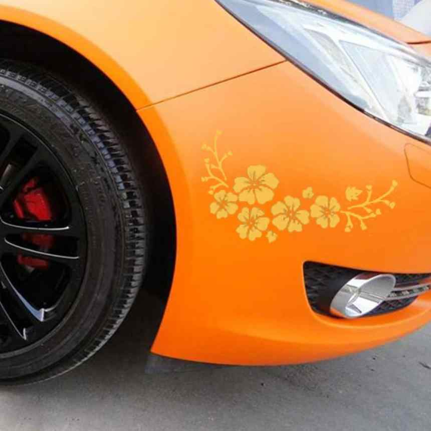 Bán buôn Xe Kiểu Dáng Xe tạo kiểu Decal Tinh Tế Bay Flower Auto Mô Hình Truck Hood Side Car Nhãn Dán Cho Ford Focus 2 Bmw E46