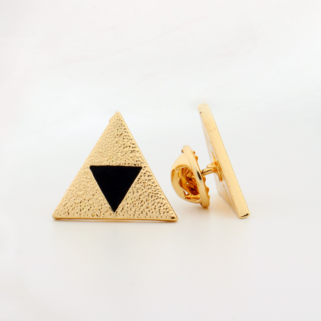 Legend Of Zelda Triforce Pins Triforce Symbol Triangle Black Enamel