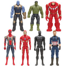 30 centímetros The Avengers 3 Infinito Guerra Figura Toy Superhero Spiderman Capitão América Hulk Homem De Ferro Black Panther Thanos figura boneca(China)