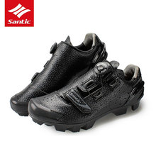 Santic Men Professional MTB Shoes Sapatilha Ciclismo Mtb Cycling Shoes Microfiber Upper Self-Locking Mountain Bike Sneakers santic cycling shoes men professional mountain bike shoes black pu breathable self locking bicycle shoes zapatillas ciclismo
