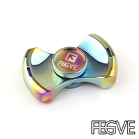 New Toy FEGVE Hand Spinner Colorful Titanium Metal Spinner Fidget Spinner Anti Stress New Year Gift