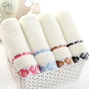 Image 3 - جودة عالية ، هدية سميكة ، منشفة قطن نقية ، تطريز سحابة ، منشفة شعار المطبوعة بالجملة.