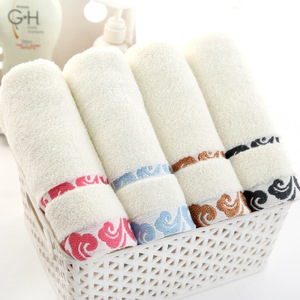 Image 3 - High quality, thick gift, pure cotton towel, cloud embroidery, printed logo towel wholesale.