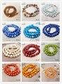 Lii Ji No.1-18 Corante Cor de Água Doce pérola Contas 6-7mm Freeform forma Solta Beads para DIY pulseira Colar de cerca de 36 cm 2 fio