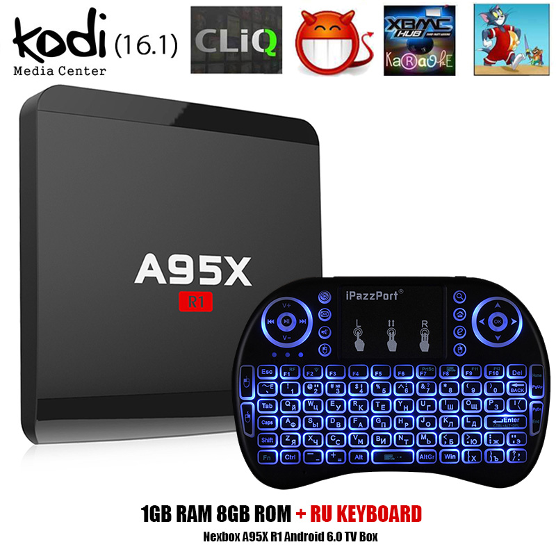 A95X R1 Android 6.0 TV Box Rockchip RK3229 Quad-core 1GB 8GB Smart TV Box HDMI 2.0 4Kx2K HD 2.4G Wifi Set Top Box Media Players gotit minix neo x6 android 4 4 kitkat tv box quad core amlogic s805 1gb 8gb wifi bluetooth smart ott tv box