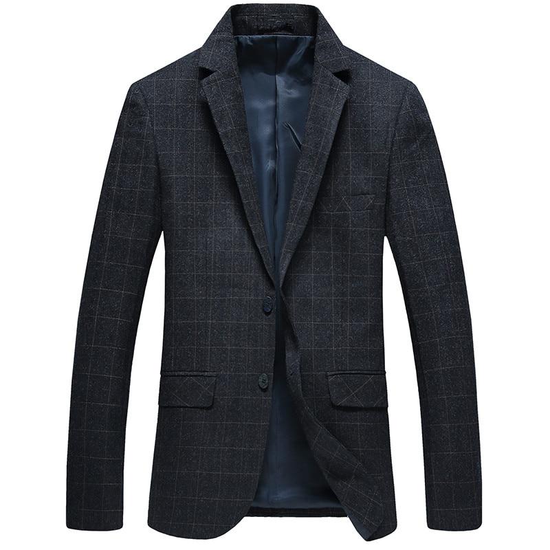 Free Shipping 2018 Autumn High Quality Men's Casual Plaid Blazers Slim Fit Mens Coats Jacket Classics Business Woolen Blazer Men