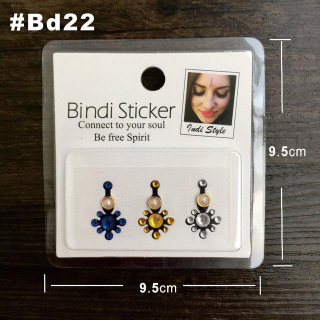 BD22 Bindi Sticker Handpicked Boho And Tribal Style Face Jewels Stickers