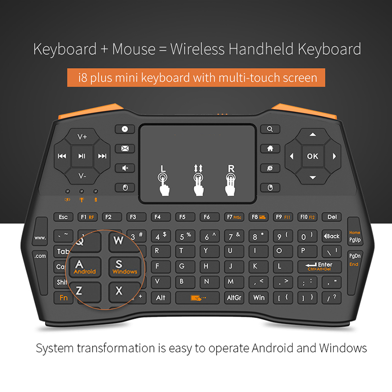 Mini Wireless Gaming Keyboard 2.4GHz Air Mouse Keyboard Remote Control Touchpad For Smart TV Tablet Laptop Xbox 360 PS4 Keyboard-in Keyboards from Computer & Office