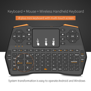Image 1 - Mini Wireless Gaming Keyboard 2.4GHz Air Mouse Keyboard Remote Control Touchpad For Smart TV Tablet Laptop Xbox 360 PS4 Keyboard