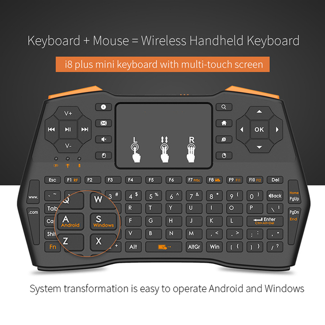Mini Wireless Gaming Keyboard 2.4GHz Air Mouse Keyboard Remote Control Touchpad For Smart TV Tablet Laptop Xbox 360 PS4 Keyboard