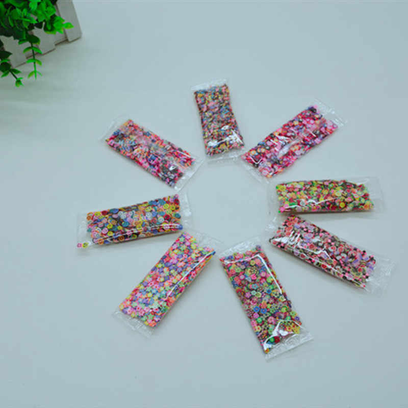 New Soft Pottery 1000pcs Fruit Slices Filler for Nails Art Tips Slime Fruit for Kids DIY Slime Accessories Supplies Decoration