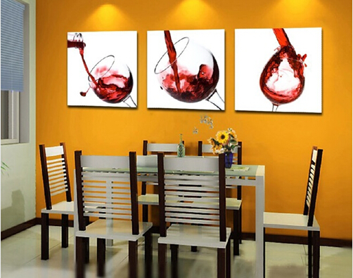 3 PCS/Set Contemporary Artwork Prints Wine Glass Canvas Wall Art Painting  Modern Home Kitchen Dinning Set Oil Painting By Number In Painting U0026  Calligraphy ...