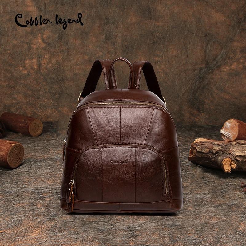 Cobbler Legend Znana blagovna znamka Ženske Usnjen nahrbtnik Bag Vintage Majhen nahrbtnik za dekleta Ženske Nahrbtnik Mini torba mochila