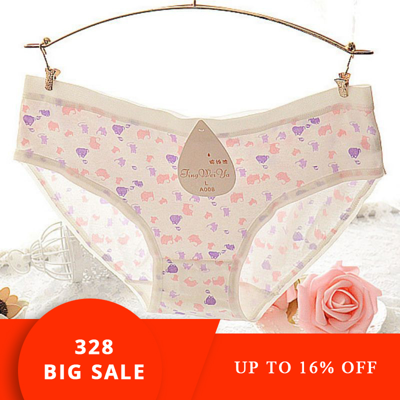 Plus rozmiar M-XXXL Bawełniana bielizna damska Gorące miękkie figi Różowe figi damskie duże kod