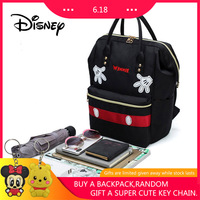 Disney Backpack Student Bag Mickey Mouse Women Bags Fashion Large Capacity Cartoon Mickey Backpacks Out Waterproof Mummy Bag